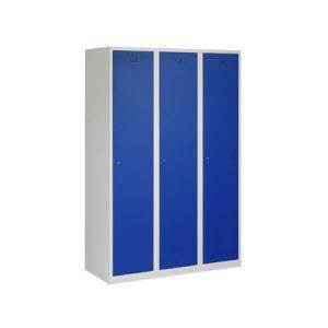 Garderobekast 3 deuren 120 cm BREED met Verdeling Schoon/Vuil