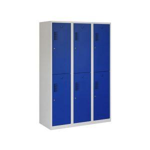 Garderobekast 6 deuren 120 cm BREED met Verdeling Schoon/Vuil
